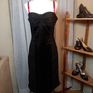 Frederick's of Hollywood Dress Black Red Medium